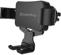 Автодержатель для телефона СolorWay Metallic Gravity Holder-2 Black (CW-CHG02-BK)
