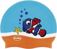 Шапочка для плавания Fashy силиконовая Голубой/Оранжевый (30403 02)