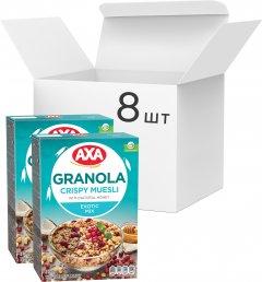 Упаковка гранолы АХА с семенами льна, клюквой и кокосом 270 г х 8 шт (4820237690210)
