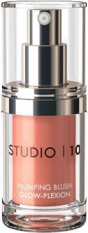 Ультра-легкие сияющие румяна Studio 10 Plumping Blush Glow-Plexion Peach 15 мл (5060377060095)