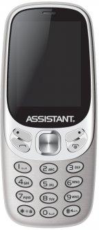 Мобильный телефон Assistant AS 203 Silver