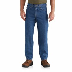 Джинси Carhartt Relaxed Fit Tapered Leg Jeans - Factory Seconds Darkstone, 54W 32L (11326351)