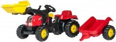 Веломобиль Rolly Toys Трактор с прицепом и ковшом RollyKid-X Красно-желтый (023127)