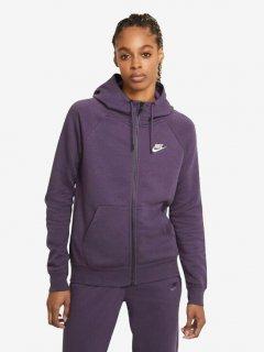 Толстовка Nike W Nsw Essntl Flc Fz Hoodie BV4122-574 XL Фиолетовая (194502798586)
