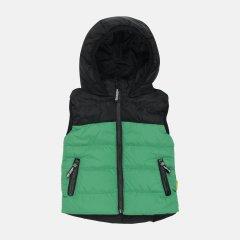 Демисезонный жилет Одягайко 72103 134 см Зеленый/Черный (ROZ6400041746)