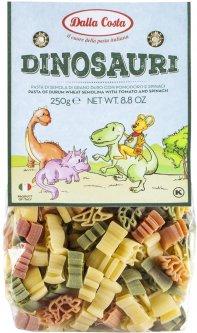 Макаронные изделия DALLA COSTA Динозавры из томатов и шпината 250 г (8016419001622)