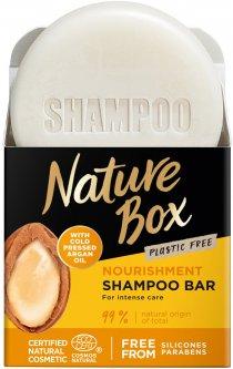 Твердый шампунь Nature Box для питания волос с аргановым маслом холодного отжима 85 г (90443718)