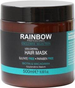 Маска для волос без сульфатов и парабенов Rainbow Professional Exclusive Hair макадамия и биотин против выпадения волос 500 мл (73351) (8697426733517)