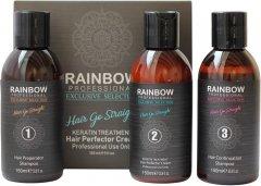 Набор для выпрямления волос Rainbow Professional Exclusive Кератин + 2 шампуня (73347) (8697426733470)