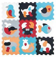 Детский развивающий игровой коврик-пазл Baby Great Любимые животные 92х92 см (GB-M2006)