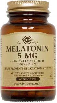 Аминокислота Solgar Мелатонин 5 мг 60 жевательных таблеток (033984019362)