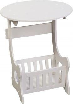 Прикроватный круглый столик Supretto с полкой для мелочей (5895-0001)