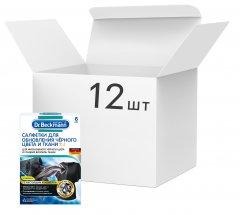 Упаковка салфеток Dr. Beckmann для обновления черного цвета и ткани 2в1 6 шт х 12 упаковок (4008455557205)