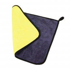 Полотенце для чистки автомобиля Supretto 40х30х0.5 см Желтое с серым (5873-0001)