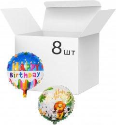 Набор фольгированных шариков Angel Gifts 8 шт 43 см Ассорти (Я45071_AG1626-004_8)