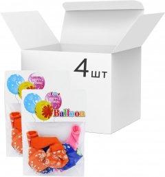 Набор латексных шариков Angel Gifts 4 пачки по 6 шт 30 см Разноцветных (Я45096_AG1627-038_4)