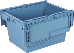Ящик пластиковый Полимерцентр с крышкой 400х300х240 мм Маренго (N4323-ALC-59PTI)