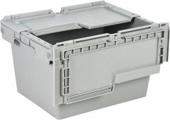 Ящик пластиковый Полимерцентр с крышкой 400х300х240 мм Серый (N4323-ALC-01PTI)
