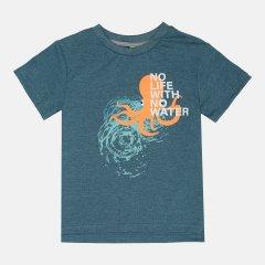 Футболка Smil Глубины Океана 110633-1 122 см Сине-лазурная (4824039220491)