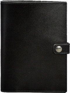 Обложка для блокнота BlankNote Кожаная для блокнота и планшета 10.0 Угольно-черная 16.5 х 23.5 см 45 л (BN-SB-10-ygol)