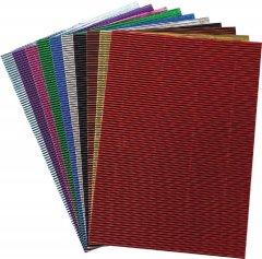 Набор гофрированной бумаги Centrum Metallic А4 10 цветов (88087)