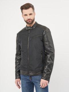 Куртка из искусственной кожи Guess M1RL48-WDMP0 XL Jet Black A996 (7618483115444)