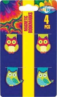 Закладка для книг Centrum магнитная 4 шт (88069)