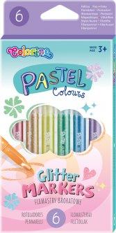 Фломастеры с блестками Colorino Пастель 6 цветов 6 шт (82565PTR)