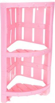 Полка 2-х ярусная Violet House Бамбу 21.5 х 55 х 21.5 см Pink (1022 Бамбу PINK)