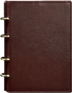 Блокнот BlankNote 9.0 Кожаный Бордовый 24.5 х 17.5 см 120 л Точка (BN-SB-9-hard-vin)