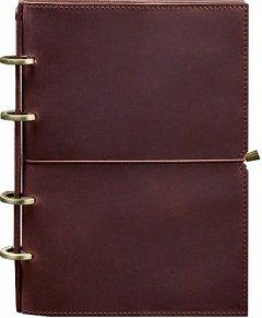 Блокнот BlankNote 9.0 Кожаный Бордовый 24.5 х 17.5 см 120 л Точка (BN-SB-9-soft-vin-kr)