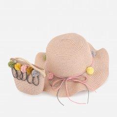 Шляпа + сумка для детей Traum 2536-03 Розовые