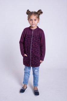 Кардиган Maksim&Liza школьный трикотажный вязаный 134 см фиолетовый (300037202102)