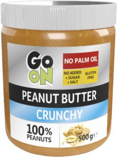 Арахисовая паста GO ON Nutrition Peanut butter crunchy 500 г (5900617038265)