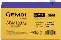 Аккумуляторная батарея Gemix GBM12072 AGM (GBM12072/ 12V 7.2Ah)