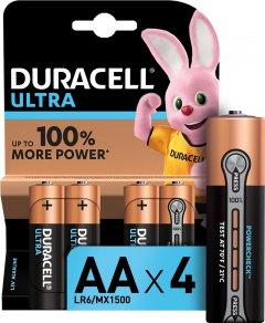 Щелочные батарейки Duracell Ultra Power AA 1.5В LR6 4 шт (5000394062573)