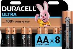 Щелочные батарейки Duracell Ultra Power AA 1.5В LR6 8 шт (5000394063051)