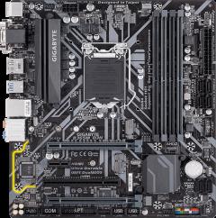 Материнская плата Gigabyte B365M D3H (s1151, Intel B365, PCI-Ex16)