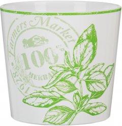 Кашпо для цветов Scheurich Herbs Delicious Белый с салатовым 11.8 х 13.7 см (4002477604565)