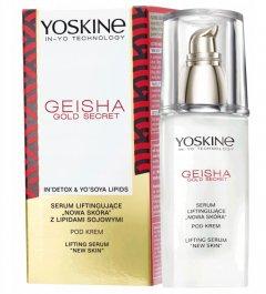 Лифтинг-сыворотка для лица от морщин с соевыми липидами и рисовой пудрой Золотой секрет гейши день/ночь Yoskine Geisha Gold Secret Lifting Serum 30 мл (5900525063779)