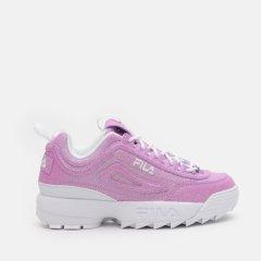 Кроссовки детские Fila Disruptor Ii Glimmer Kids' Low Shoes 3XM01269-522 39 Фиолетовые с белым (4670036579151)