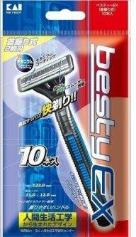 Одноразовый бритвенный станок мужской Kai Besty EX 10 шт (4901331013072)