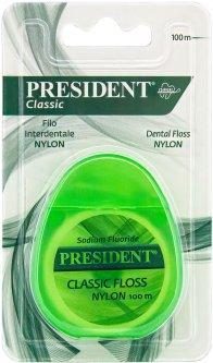 Зубная нитка President Classic из нейлона 100 м (8030009701082)