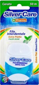 Зубная нить Silver Care экстра-плоская 50 м (8009315011093)