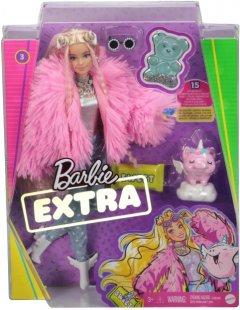 Кукла Barbie Экстра в розовой пушистой шубке (GRN28) (0887961908480)