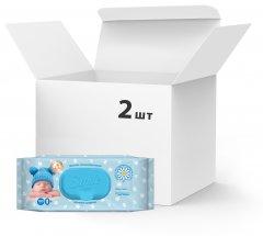 Упаковка влажных салфеток Smile Baby Экстракт ромашки и алоэ 2 пачки по 100 шт (42113908)