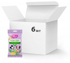 Упаковка влажных салфеток Smile Baby Antibacterial 6 пачек по 15 шт (42116110)