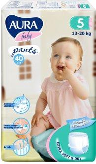 Трусики одноразовые для детей Aura 5 XL 13-20 кг jambo-pack 40 шт (4752171005105)