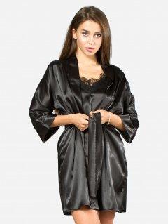 Комплект (халат+майка+шорты) Ghazel 17111-09/8 48 Черный/Черный (gh2000000008424)