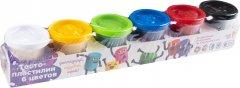 Набор для лепки Тесто-пластилин 6 цветов Genio Kids (TA1009V)